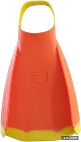 PALMES DE BODYBOARD - DMC SWIM FINS - REPELLOR - JAUNE / ORANGE - TAILLE : M ( 41 )