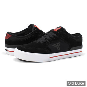 SKATE SHOES - FALLEN - RIPPER - BLACK RED - TAILLE : 41