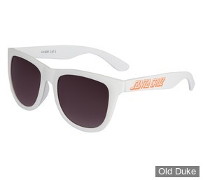 LUNETTES - SANTA CRUZ - CLASSIC STRIP SUNGLASSES - WHITE - ADULTE