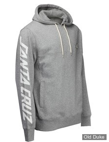 SWEAT SHIRT A CAPUCHE - SANTA CRUZ - RIGHTHANDER HOOD - GRIS / DARK HEATHER - TAILLE : S