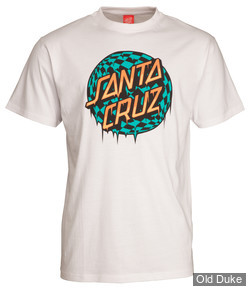 TEE-SHIRT - SANTA CRUZ - CHECK WASTE DOT - BLANC - TAILLE : L