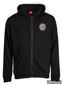 SWEAT SHIRT ZIPPE A CAPUCHE - SANTA CRUZ - WASTE DOT ZIP HOOD - NOIR / BLACK - TAILLE :S