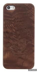COQUE DE TELEPHONE - IPHONE 5 & 5S - SANTA CRUZ - Pray Wood iPhone 5/5s - COULEUR : Black Walnut Wood