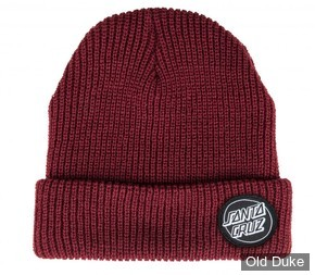 BONNET -  SANTA CRUZ - Beanie Outline Dot - COULEUR : ROUGE FONCE
