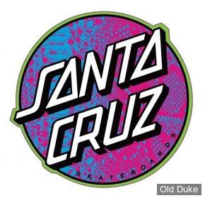 "AUTOCOLLANT / DECAL - SANTA CRUZ - Santa Cruz Stickers Scales Dot - COULEUR : MULTI - DIAMETRE : 4"""