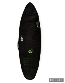 HOUSSE DE SURF - SHORTBOARD - LONGUEUR : 6'0 - POUR 2 PLANCHES - CREATURES OF LEASURE - DOUBLE - BLACK / LIME