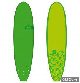 PLANCHE DE SURF - SOFTBOARD MOUSSE - LONGUEUR : 6'6 - MADNESS - SOFTJOY BY MADNESS / TROPICO - VERT CLAIR & FONCE