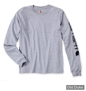 TEE-SHIRT MANCHE LONGUE -  CARHART - SLEEVE LOGO L/S HEATHER - GRIS - TAILLE : S