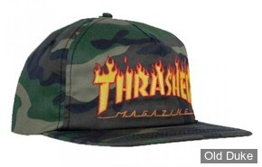 CASQUETTE - THRASHER - CAP SNAPBACK FLAME - COULEUR : CAMOUFLAGE