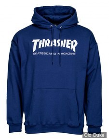 SWEAT SHIRT A CAPUCHE - THRASHER MAGAZINE - Thrasher Hoody	Skate Mag - NAVY - TAILLE : S