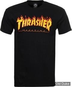 TEE-SHIRT THRASHER MAGAZINE - FLAME LOGO - NOIR - TAILLE : S
