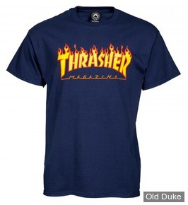 TEE-SHIRT THRASHER MAGAZINE - PURPLE FLAME - TAILLE : L