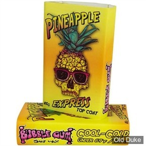 TOP COAT / SURF WAX - PINEAPPLE COOL - TEMPERATURE : MOINS DE 20°C - BUBBLE GUM - COLD - ORANGE