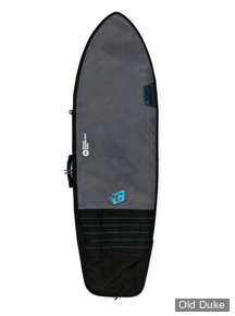HOUSSE DE SURF - FISH / RETRO FISH - LONGUEUR : 6'0 - POUR 1 PLANCHE - CREATURES OF LEASURE - DAY USE - CHARCOAL / CYAN