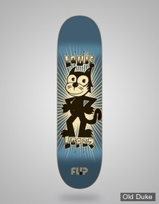 "DECK - 8.25"" / 32.31"" - WEIRDO - LOUIE LOPEZ - FLIP SKATEBOARD"
