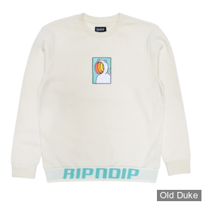 SWEAT SHIRT - RIPNDIP - OPEN MIND CREWNECK SWEATER - NATURAL - TAILLE : S