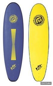 PLANCHE DE SURF - SOFTBOARD MOUSSE - LONGUEUR : 6'6 - MADNESS - SOFTOP PP Polypropylene Core - JAUNE / BLEU