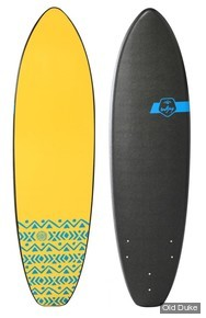 PLANCHE DE SURF - SOFTBOARD MOUSSE - LONGUEUR : 6'0 - MADNESS - SOFTJOY BY MADNESS / OLMEK - BLEU / JAUNE