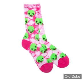 CHAUSSETTES - RIPNDIP - We Out Here Socks - Pink Lightning Wash -TAILLE : UNIQUE