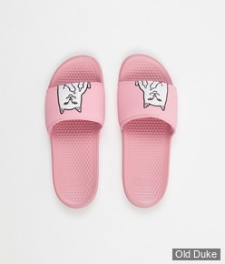 CLAQUETTES - RIPNDIP - LORD NERMAL SLIDES - PINK - TAILLE : 37