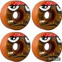 ROUE DE SKATE - D / 53MM - TOY MACHINE - POO POO HEAD - 100A  (PACK DE 4)