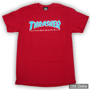 TEE-SHIRT THRASHER MAGAZINE - OUTLINED - TAILLE : M - ROUGE CARDINAL