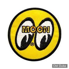 ECUSSON MOONEYES - MOON Logo Round Patch - JAUNE/NOIR