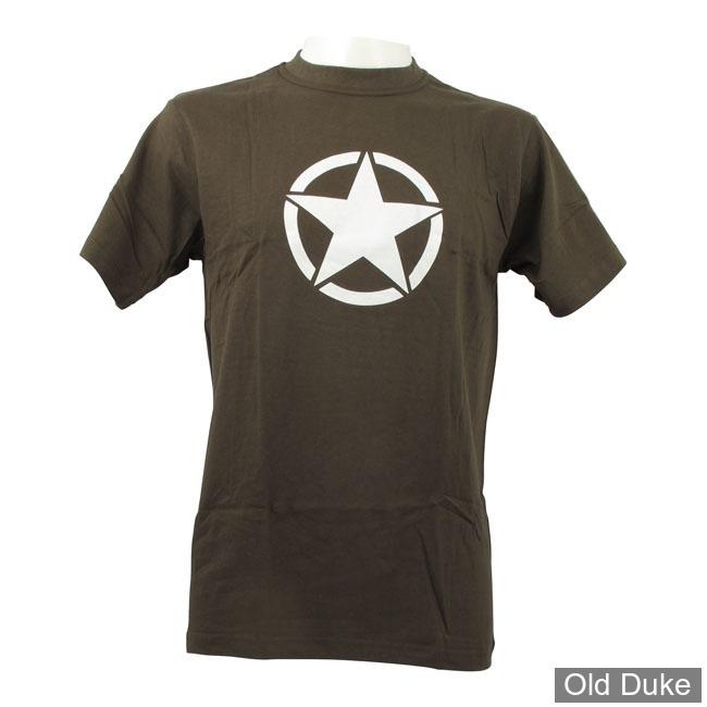TEE-SHIRT - FOSTEX - VINTAGE WHITE STAR - KAKI - TAILLE : S