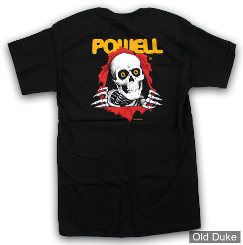 TEE SHIRT - POWELL PERALTA - CLASSIC RIPPER - BLACK - TAILLE : S