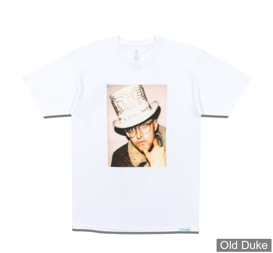 TEE-SHIRT - DIAMOND - DMND X KEITH HARING IN HAT TEE - WHITE - TAILLE  : L