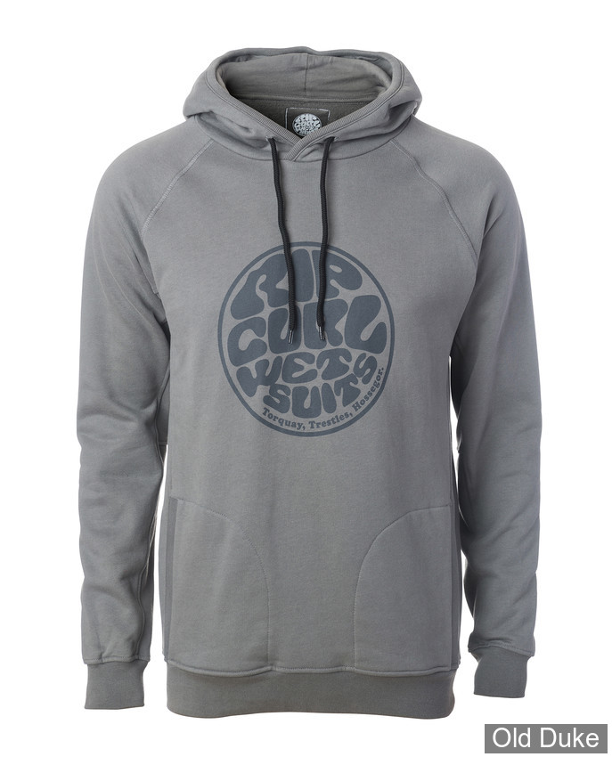 SWEAT SHIRT A CAPUCHE - RIP CURL - WETTIE FLECE - PEWTER GREY / GRIS - TAILLE : S