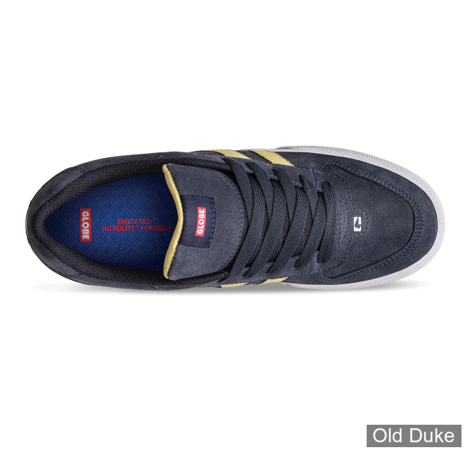 SKATE SHOES - GLOBE - ENCORE-2 - NAVY / PALE YELLOW - TAILLE : 42