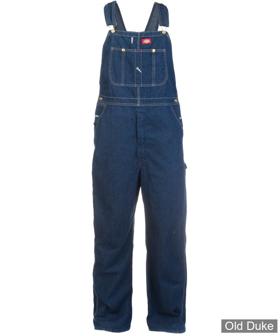 SALOPETTE DICKIES - DUCK BIB OVERALL RINSED - LOOSE FIT / DB100 SERIE - BLEU INDIGO