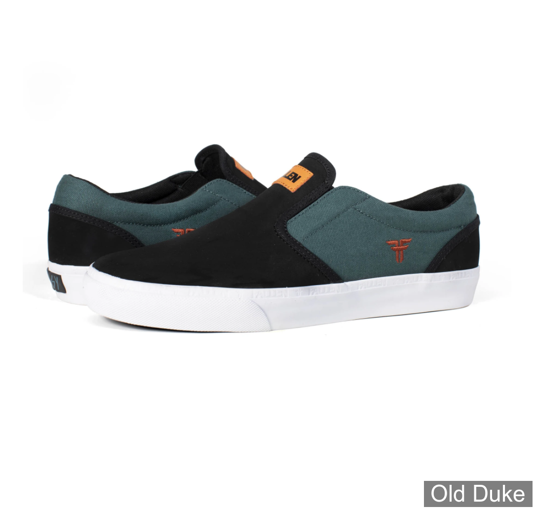 SKATE SHOES - FALLEN - THE EASY - BLACK / GREEN - TAILLE : 43