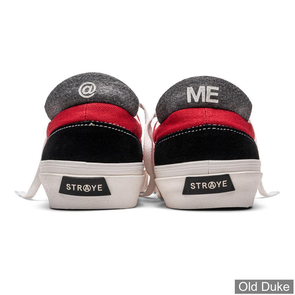 SKATE SHOES - STRAYE - LOGAN - BLACK / CRIMSON CANVAS
