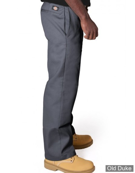 PANTALON - DICKIES - 873 - SLIM STRAIGHT WORK PANTS - CHARCOAL GREY / GRIS - TAILLE : 31 / 32