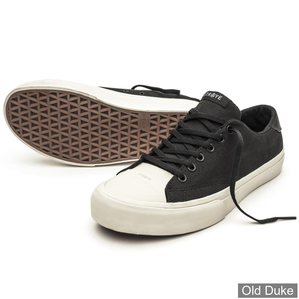 SKATE SHOES - STRAYE - STANLEY - BLACK/BONES CANVAS - TAILLE : 43