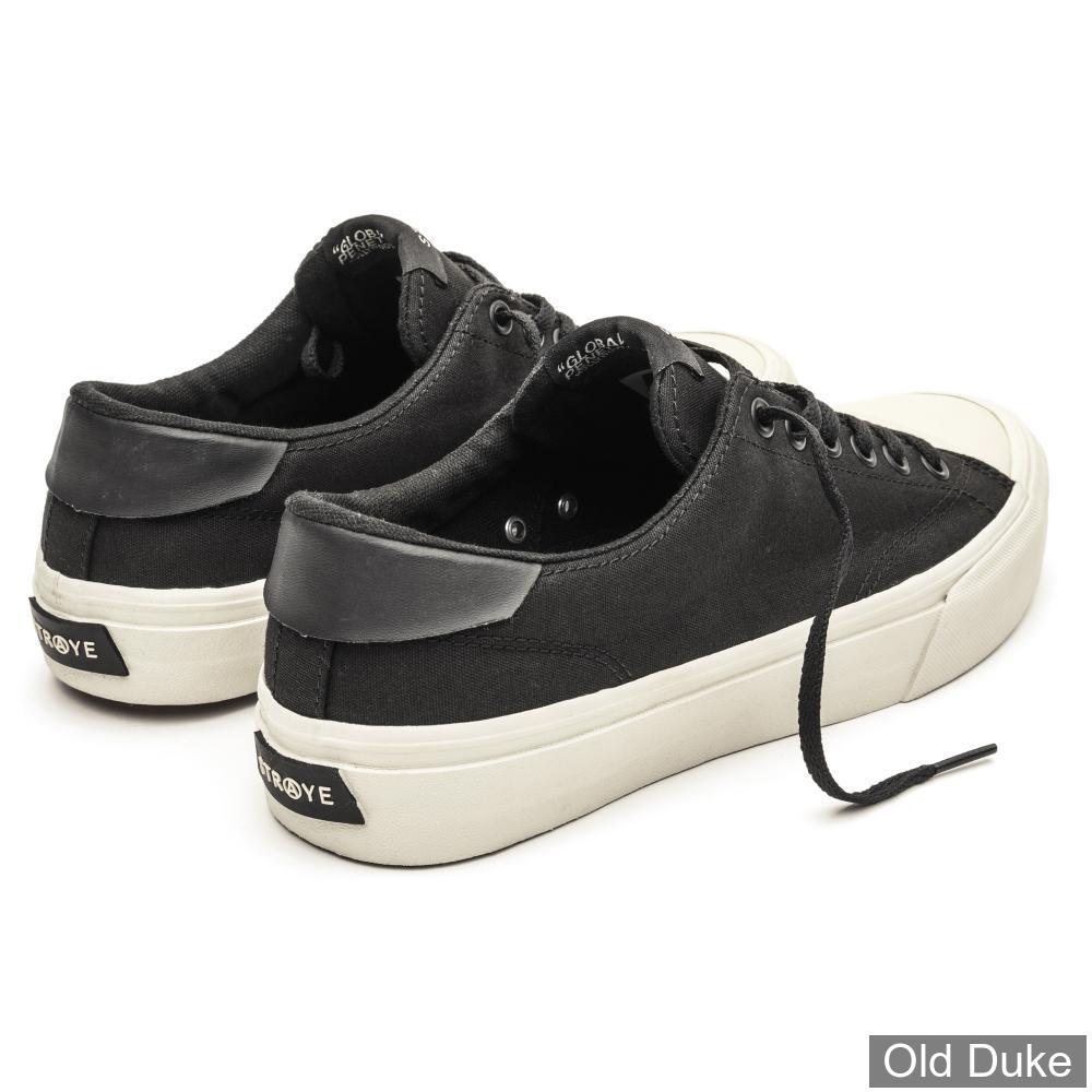 SKATE SHOES - STRAYE - STANLEY - BLACK/BONES CANVAS