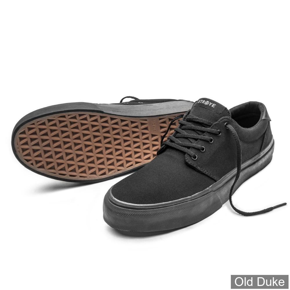 SKATE SHOES - STRAYE - FAIRFAX - BLACK/BLACK CANVAS - TAILLE : 44.5