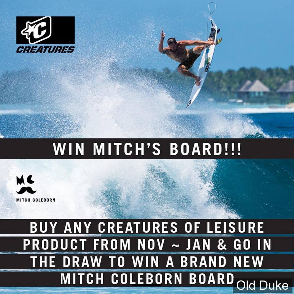 PAD / GRIP SURF - 3 PIECES - ARCHE CENTRALE - CREATURES OF LEASURE - 300 x 310 - MITCH COLEBORN signature - MAGENTA SWIRL