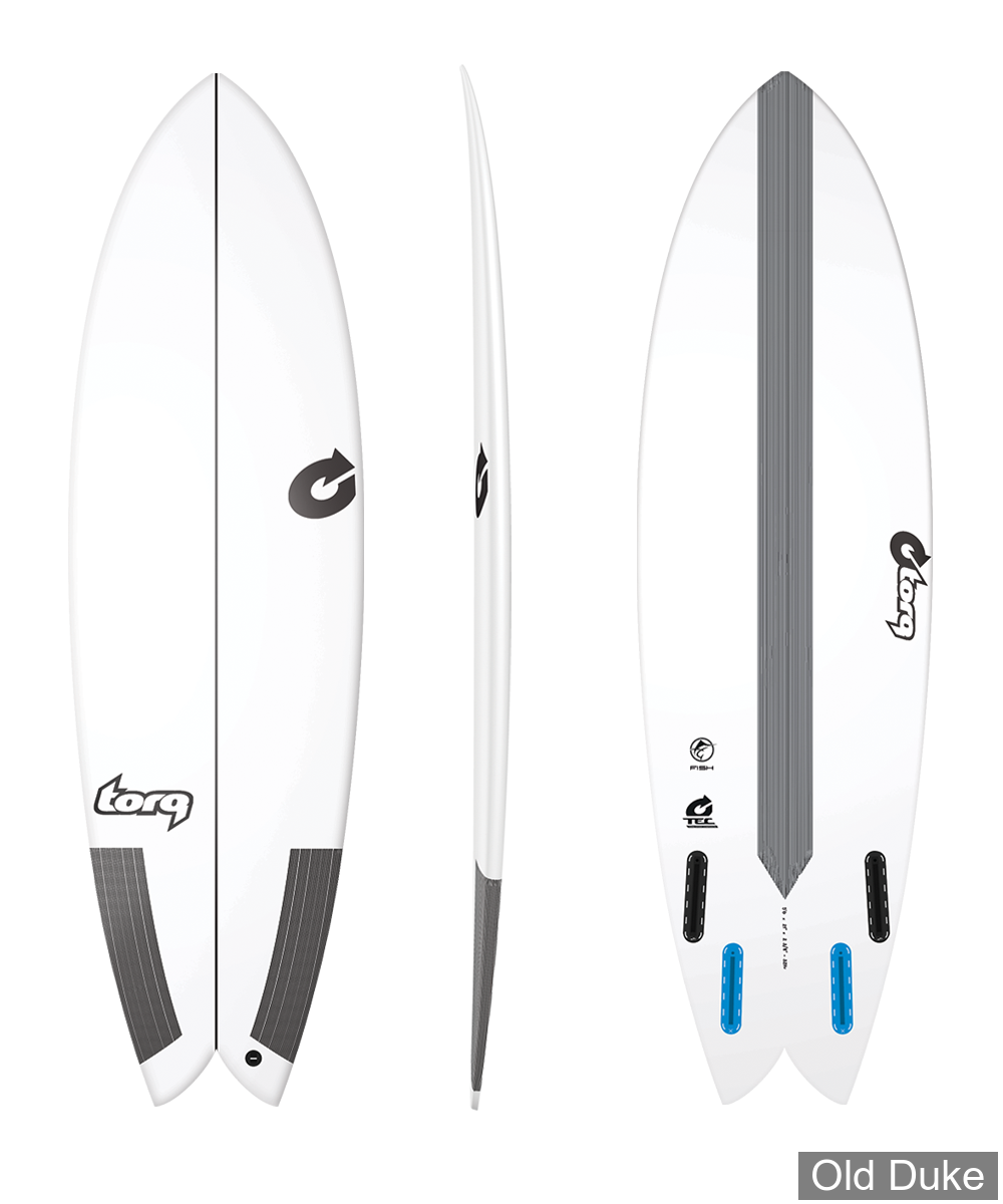 PLANCHE DE SURF - FISH - LONGUEUR : 6' - CLAS FISH - TEC - TORQ - WHITE