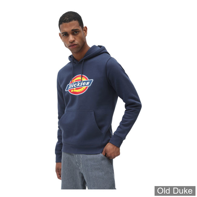 SWEAT SHIRT A CAPUCHE - DICKIES - ICON LOGO HOODIE - NAVY BLUE - TAILLE : L