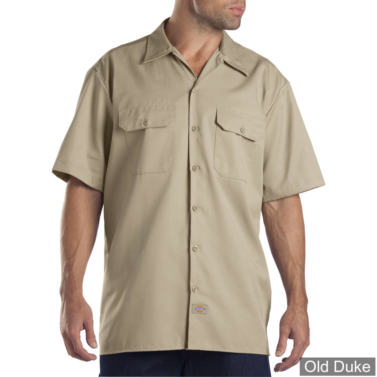 CHEMISE A MANCHES COURTE - DICKIES - SHORT SLEEVE WORK SHIRT #1574 - RELAXED FIT - COULEUR : KHAKI - TAILLE : XL