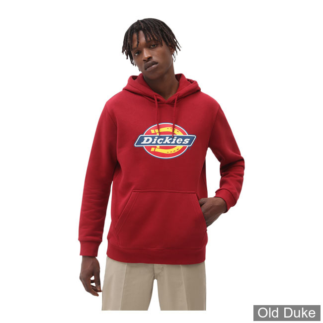 SWEAT SHIRT A CAPUCHE - DICKIES - ICON LOGO HOODIE - BIKING RED - TAILLE : S
