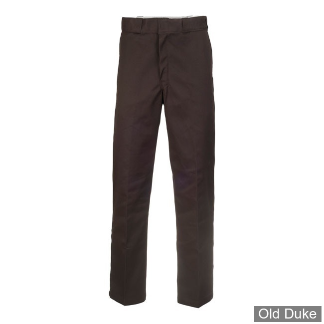 PANTALON - DICKIES - 874 - ORIGINAL WORK PANTS - DARK BROWN / MARRON FONCE - TAILLE : 32 / 34