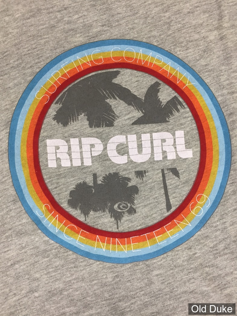 TEE-SHIRT - RIP CURL - WISLER TEE - CEMENT MARLE / GRIS - TAILLE : S