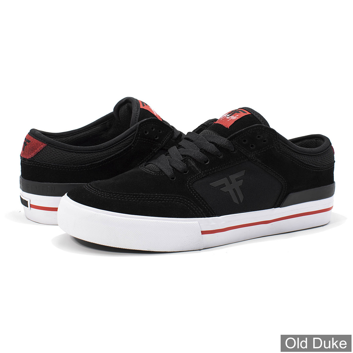 SKATE SHOES - FALLEN - RIPPER - BLACK RED - TAILLE : 44