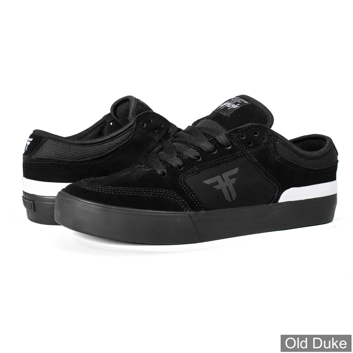 SKATE SHOES - FALLEN - RIPPER - BLACK BLACK WHITE