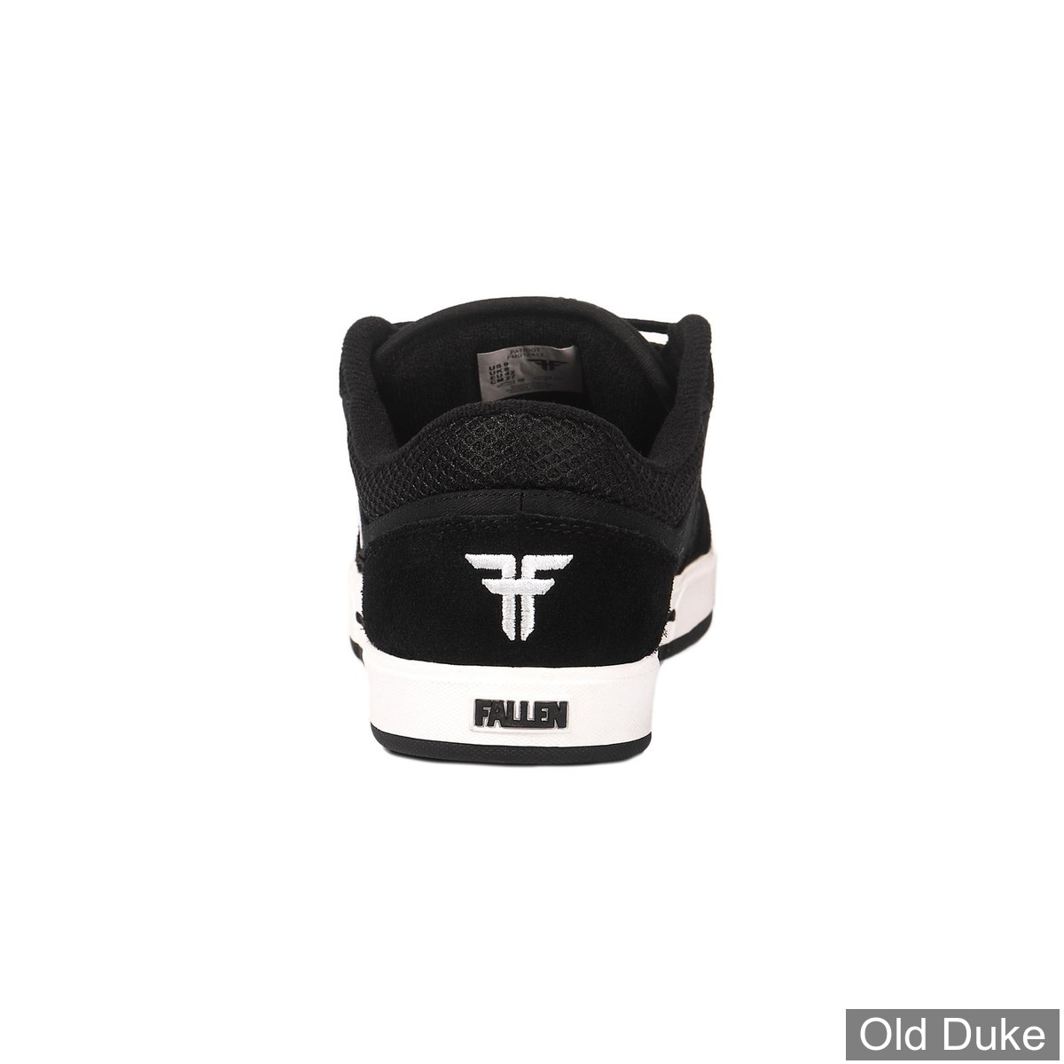 SKATE SHOES - FALLEN - PATRIOT - BLACK WHITE
