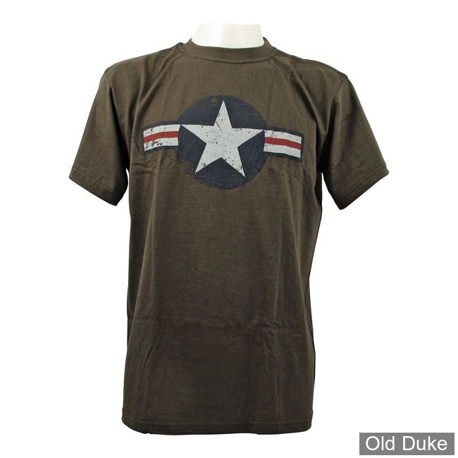 TEE-SHIRT - FOSTEX - AIR FORCE STAR & BARS - KAKI